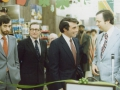 Sean Condon, Brian O'Doherty and David Fitzgerald, with NY City Hall Admin , Sloans S'markets, promotion, St Pats season, 1979